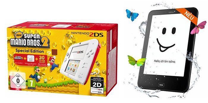Bis 15€ Rabatt bei Bücher.de   z.B. Nintendo 2DS + New Super Mario Bros 2 für 84€