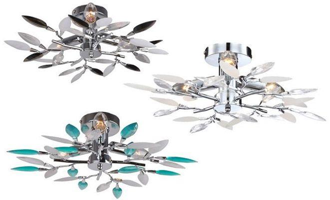 Deckenlampen Globo Deckenlampen mit Blätter Design für je 19,90€