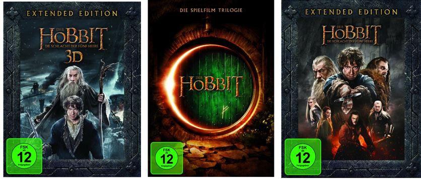 Der Hobbit Filme und Serien in Amazon Last Minute Angeboten z.B. Die Hobbit Trilogie [3 DVDs] für 14,97€