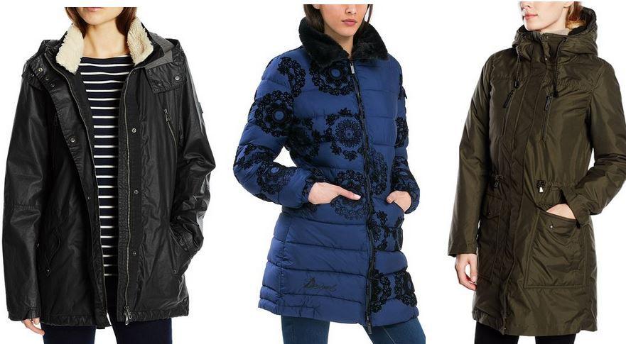 Damen Winterjacken: Bis zu 55% reduziert z.B. Desigual Damen Daunenjacke für 84,99€