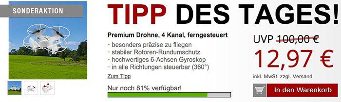 Drohne 4 Kanal Drohne für 17,94€ + gratis Artikel