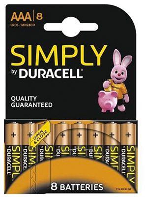 40 Duracell Micro AAA Alkaline Simply Batterien für 14,99€