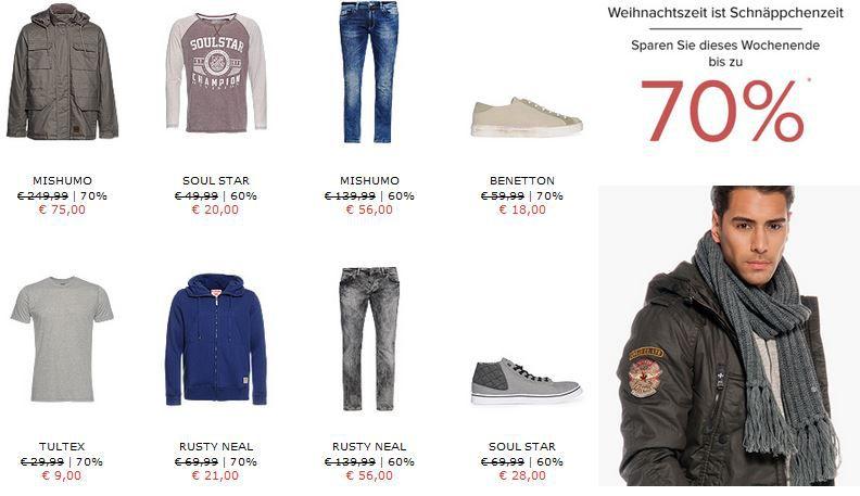 Fashion Aktion dress for less Weihnachtsale mit bis zu 70% Rabatt + 10% Gutschein
