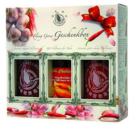 Flying Goose Sriracha Chillisauce Flying Goose Sriracha Chillisauce Geschenkbox ab 5,99€ (statt 11,87€)