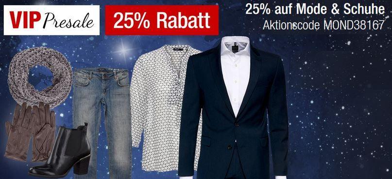 TOP! 25% Rabatt auf Bekleidung, Schuhe, Outdoor  und Wintersportbekleidung