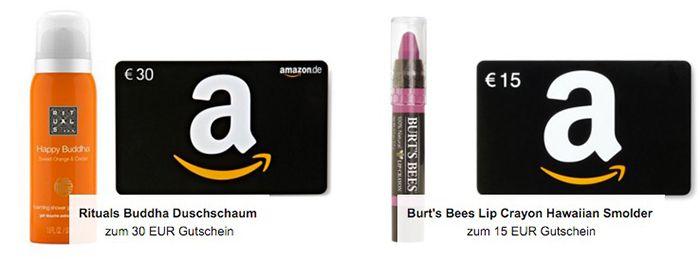 Gratis Beauty Produkt beim Kauf eines Amazon Gutscheins