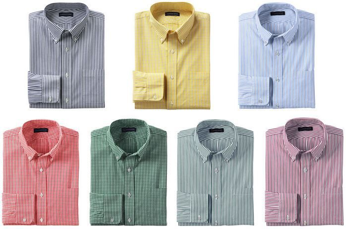 LANDS´ END   klassisches Herren Businesshemd mit Buttondownkragen für je 12,95€