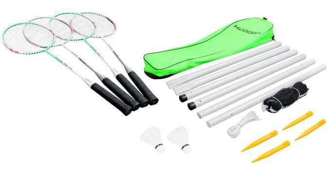 HUDORA Badmintonset Team HD 44   Komplettset mit Tasche 4 Schläger und Netz 11€