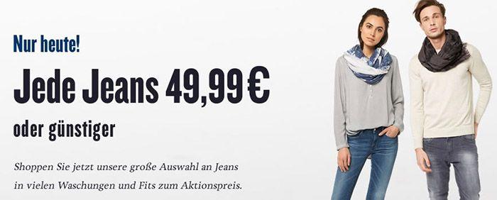 Alle Jeans bei Tom Tailor nur je 49,99€   oder günstiger!