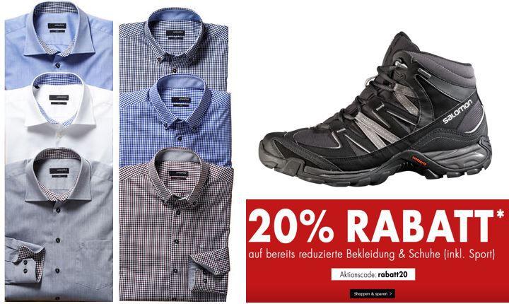 Karstadt mit 20% Rabatt auf reduzierte Kleidung, Schmuck + Sport
