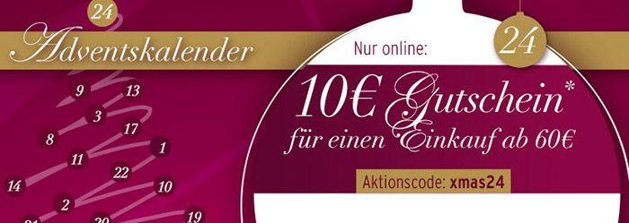 Karstadt 10€ Karstadt Gutschein mit 60€ MBW