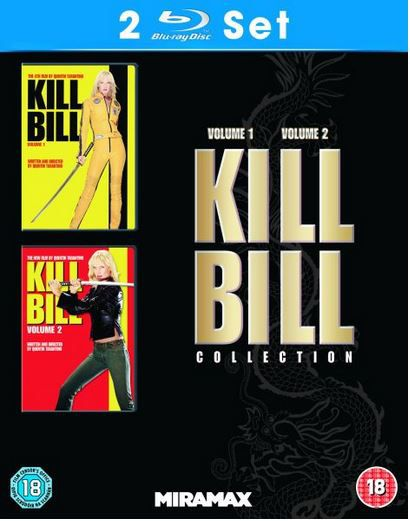 Quentin Tarantinos: Kill Bill 1 + 2 auf Blu ray für zusammen nur 8,32€