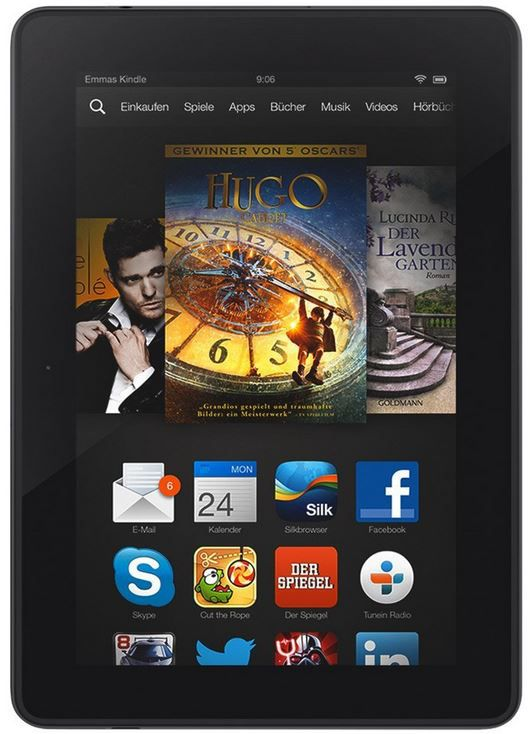 Kindle Fire HDX Kindle Fire HDX Tablet mit 7 Zoll HDX Display WLan + 4G für 179€