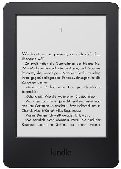 Kindle 6 Zoll Touchscreen Tablet ohne Spiegeleffekte mit WLAN für 59,99€