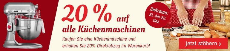 Küchenmaschinen 20% Rabatt auf Küchenmaschinen bei Redcoon
