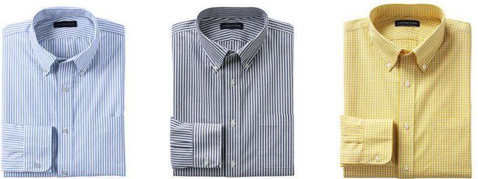Lands End Hemd LANDS´ END   klassisches Herren Businesshemd mit Buttondownkragen für je 12,95€