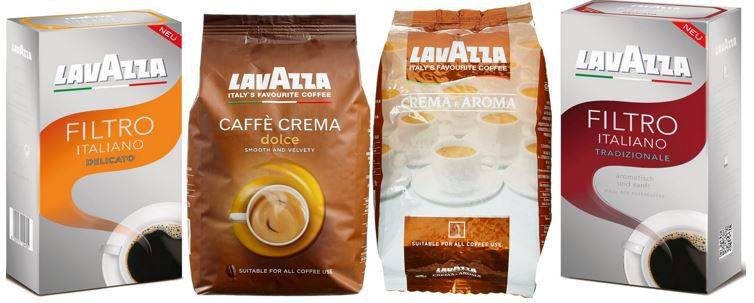 Lavazza Kaffee im Angebot   z.B. Lavazza Caffè Crema Dolce 1kg für 10,79€ (idealo 18€)
