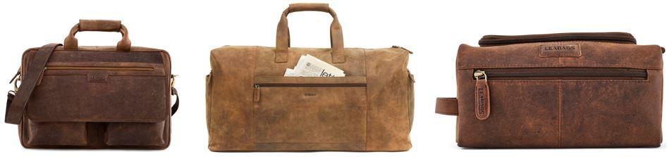 LEABAGS   Taschen aus echtem Büffel Leder ab 58,98€