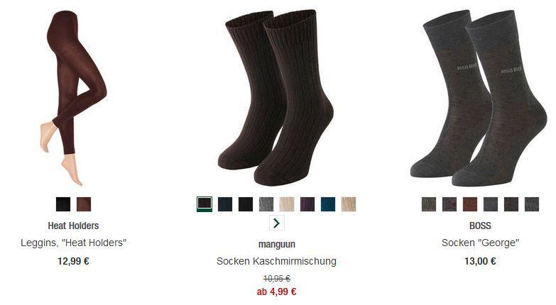 Damen und Herrenstrümpfe mit 20% Extra Rabatt bei den Galeria Kaufhof Mondschein Angeboten