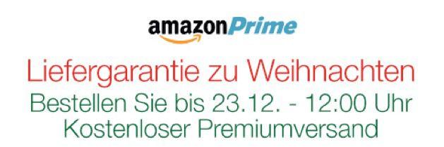 Liefergarantie Liefergarantie zu Weihnachten bei Amazon
