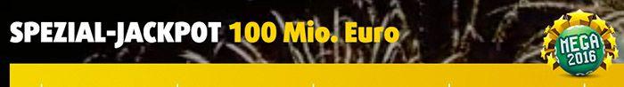 MEGA 2016 Tipp (100 Mio. Jackpot) + 5 Rubbellose für 1€   nur Neukunden