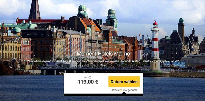 3 4 Tage Malmö mit Flüge und ÜN ab 119€ p.P.