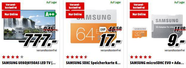 Samsung UE60J6150   60 Zoll TV für 777€ bei der MediaMarkt Advents Sonderposten Aktion