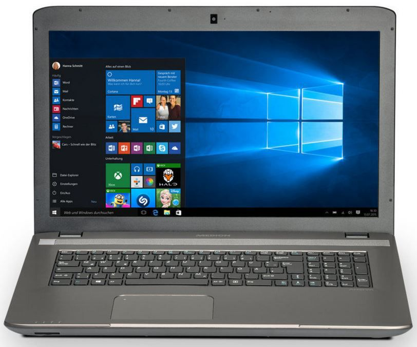 MEDION AKOYA P7632 Notebook mit i5, 1TB HDD, GeForce GT825M und Windows 10 für 555€