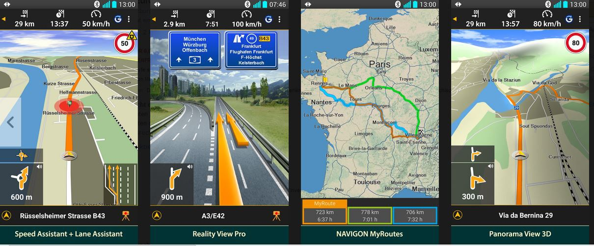 Navigon Gratis NAVIGON Europe   Android Navi App kostenlos