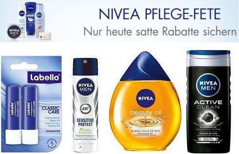 Nivea Aktion 300 Nivea Pflegeprodukte (Labello, Florena, Hansaplast, 8x4) bis zu  35%