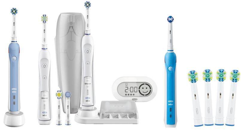 Oral B Zahnbürsten und Aufsteckbürsten mit bis zu 58% Rabatt