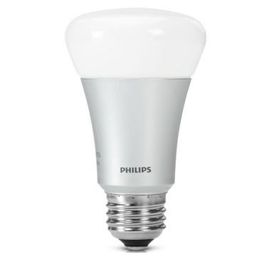 Philips Hue LED Lampe 10 W A60 E27, Einzellampe, dimmbar, 16 Mio Farben, app gesteuert für 38,94€
