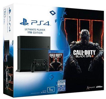 Playstation 4 1TB (CUH 1216B) + CoD: Black Ops 3 für 308€ (statt 416€)