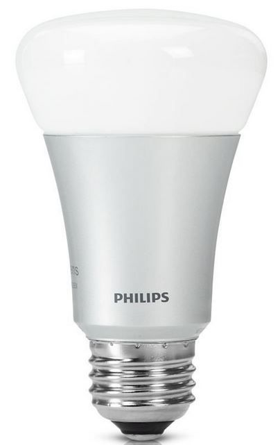 Philips Hue Philips Hue LED Lampe 10 W A60 E27, Einzellampe, dimmbar, 16 Mio Farben, app gesteuert für 38,94€