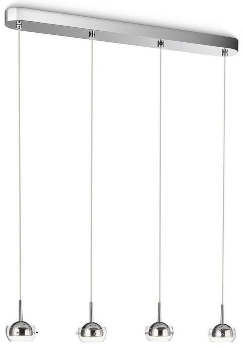 Philips myLiving  Cypress   LED Pendelleuchte 4 flammig, chrom statt 90€ für 42,49€