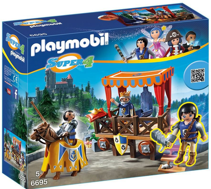Playmobil super4 PLAYMOBIL 6695   Königstribüne mit Alex ab 13,49€