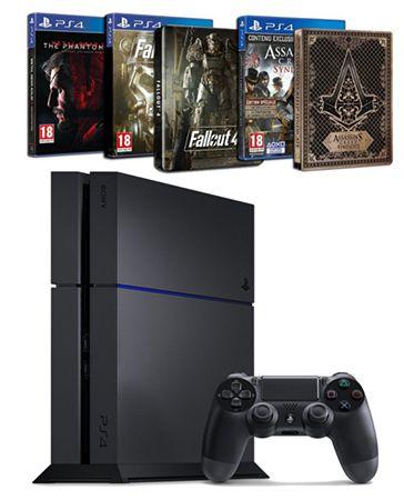 Playstation 4 500GB (CUH 1216B) + 3 Spiele für 384,89€ (statt 490€)