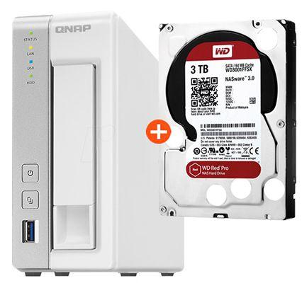 QNAP TS 131 NAS + 3TB WD Red für 199€ (statt 250€)