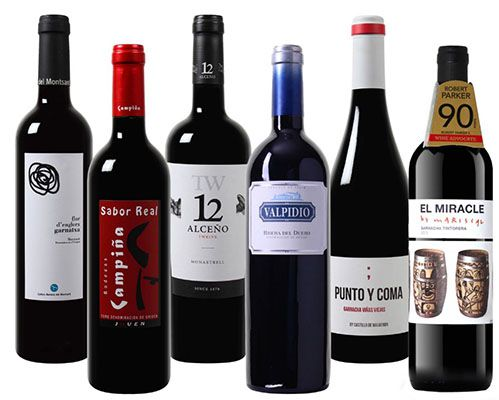 Robert Parker Probierpaket mit 6 spanischen Weinen für 44,94€