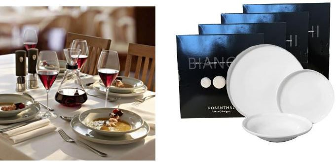 Rosentahl Angebot Rosenthal Bianche Home Design 12er Tellerset für 39,95€