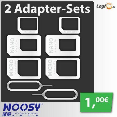 Multi SIM Adapter im Doppelpack für nur 1€