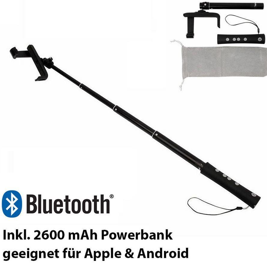 SOLUTIONS2GO BT Selfiestick SOLUTIONS2GO BT   Bluetooth Selfiestick & Powerbank für 19,99€