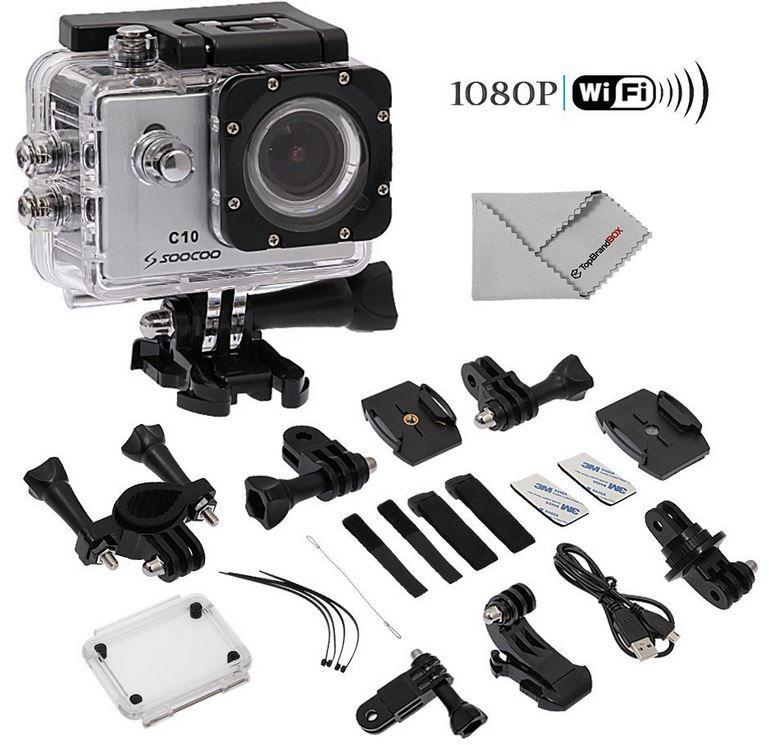 SOOCOO C10 Sport Action Digital Kamera Set   30m Wasserdicht für 67,99€