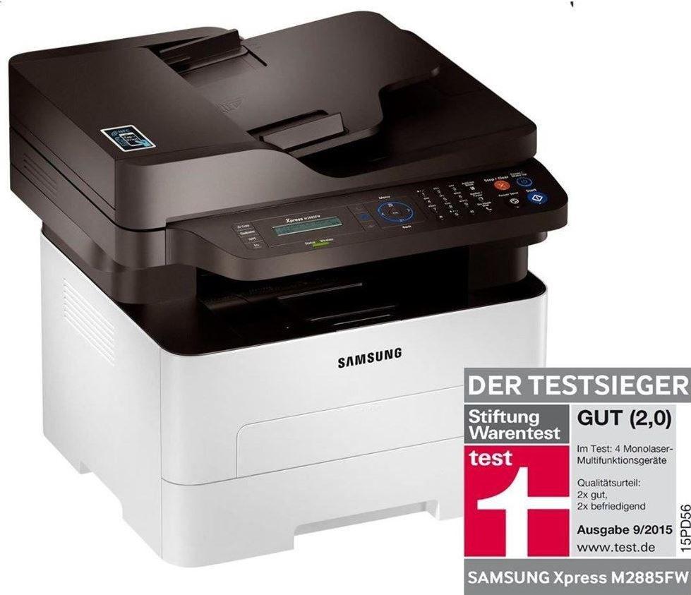 Samsung Laserdrucker Samsung Xpress M2885FW   monochromer WLan Laserdrucker mit Fax und Kopierfunktion für 199,90€