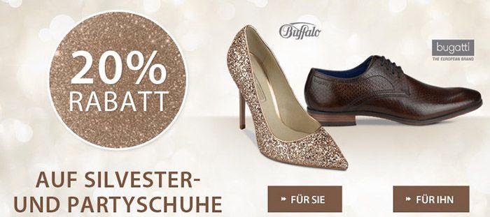 20% Rabatt auf Silvester  & Partyschuhe + VSK frei bei Roland Schuhe