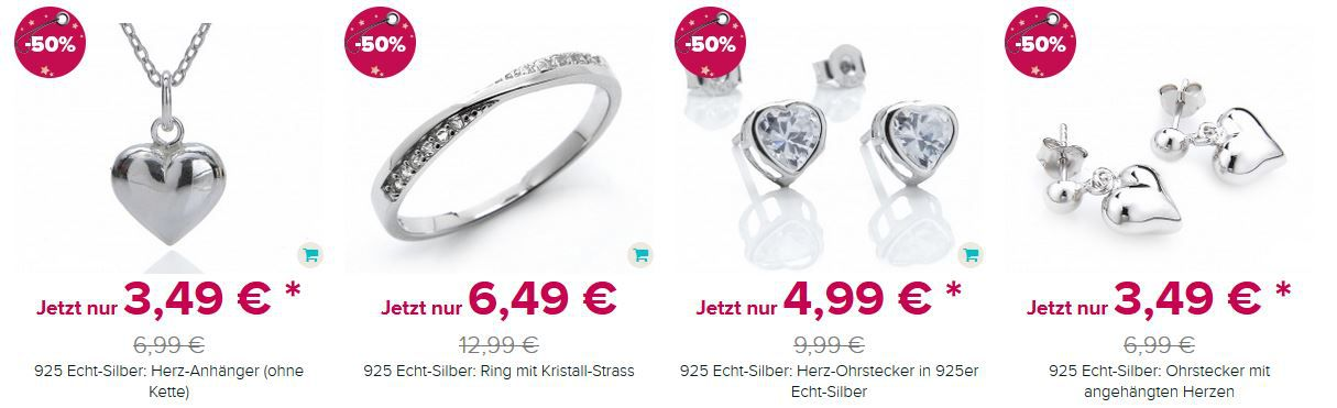 Silvity Weihnachts Sale mit krassen Preisen   z.B. 925 Echt Silber Ohrstecker mit Aquamarin Strass ab 4,99€