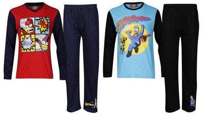 Die Simpsons Jungen Pyjama Set für 7,05€