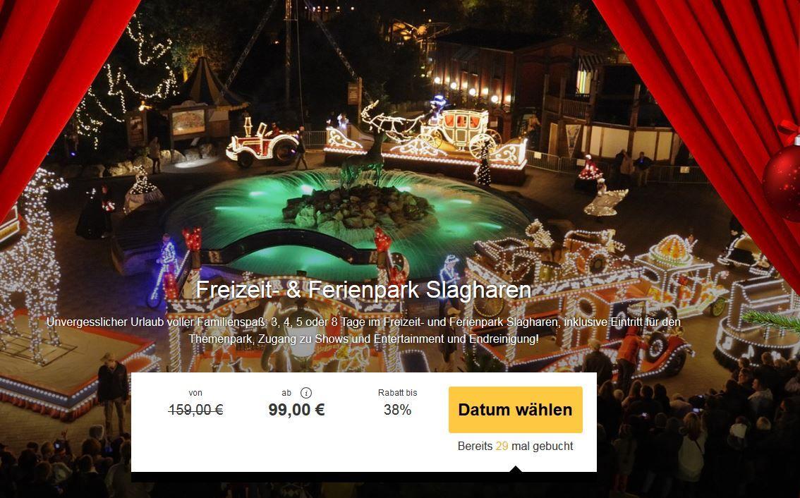 Slagharen   Winter Freizeitpark pro Übernachtung und Eintritt für 2 Erwachsene + max. 4 Kinder nur 99€
