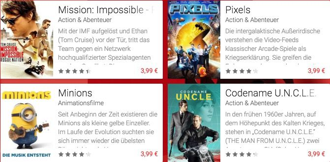 75% Rabatt auf einen Film im Google Play Store