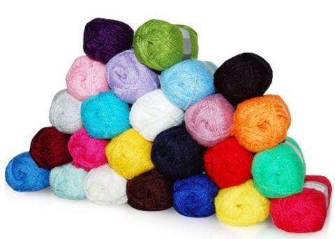 40er Pack Strickgarn   Acrylgarn in vielen Farben für 19,99€